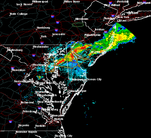 Radar Image for Severe Thunderstorms near Milford, DE at 7/24/2017 10:54 PM EDT