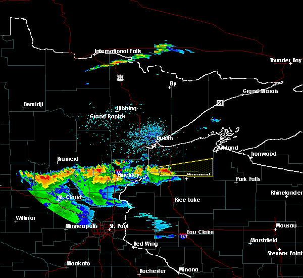 Radar Image for Severe Thunderstorms near Minong, WI at 7/25/2017 10:19 PM CDT
