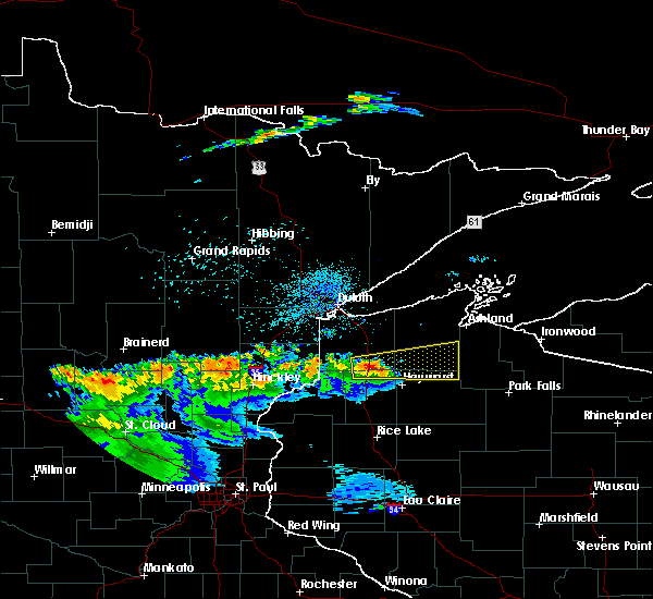 Radar Image for Severe Thunderstorms near Minong, WI at 7/25/2017 10:26 PM CDT