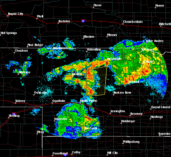 Radar Image for Severe Thunderstorms near Arnold, NE at 7/25/2017 11:55 PM CDT