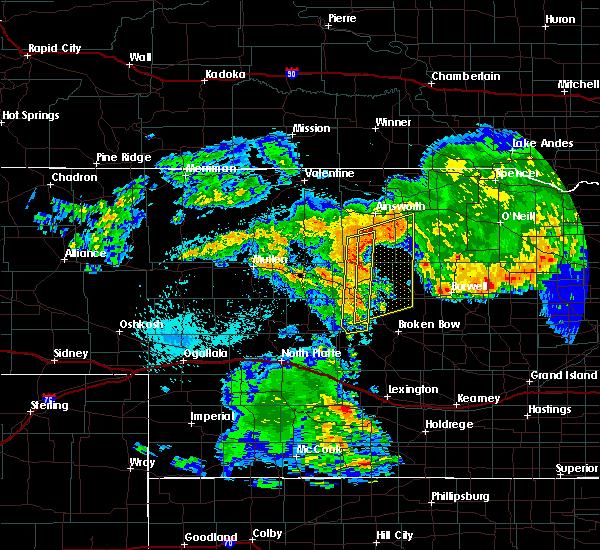 Radar Image for Severe Thunderstorms near Anselmo, NE at 7/26/2017 12:28 AM CDT