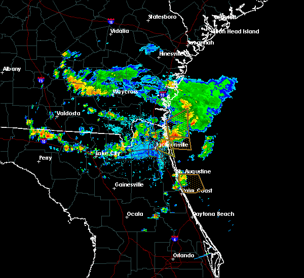 Radar Image for Severe Thunderstorms near Palm Valley, FL at 7/26/2017 6:05 PM EDT