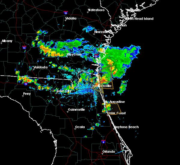 Radar Image for Severe Thunderstorms near Jacksonville, FL at 7/26/2017 6:05 PM EDT