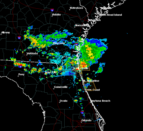 Radar Image for Severe Thunderstorms near Palm Valley, FL at 7/26/2017 6:23 PM EDT