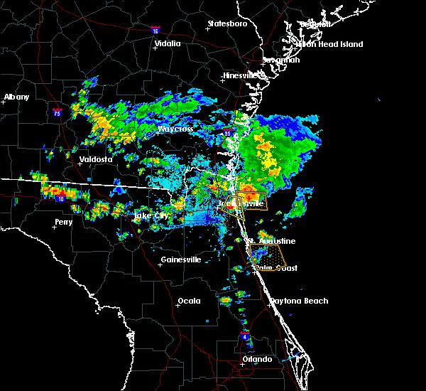 Radar Image for Severe Thunderstorms near Jacksonville, FL at 7/26/2017 6:23 PM EDT