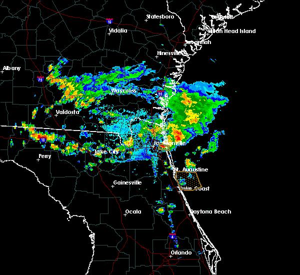 Radar Image for Severe Thunderstorms near Jacksonville, FL at 7/26/2017 6:35 PM EDT