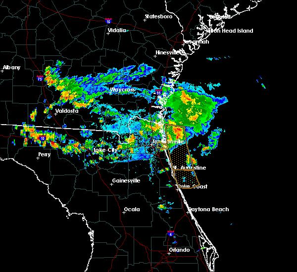 Radar Image for Severe Thunderstorms near Jacksonville, FL at 7/26/2017 6:45 PM EDT