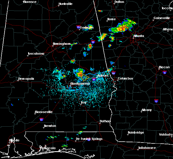 Radar Image for Severe Thunderstorms near Tallassee, AL at 7/27/2017 3:19 PM CDT