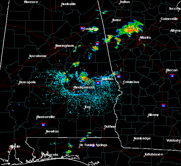 Radar Image for Severe Thunderstorms near Tallassee, AL at 7/27/2017 3:28 PM CDT