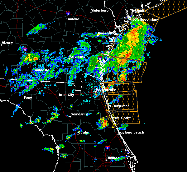 Radar Image for Severe Thunderstorms near Bunnell, FL at 7/29/2017 4:58 PM EDT