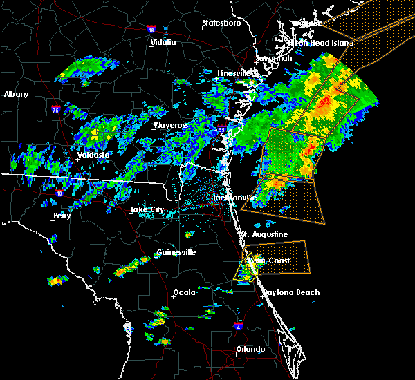 Radar Image for Severe Thunderstorms near Bunnell, FL at 7/29/2017 5:39 PM EDT