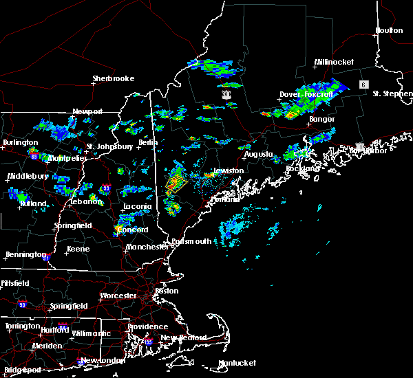 Radar Image for Severe Thunderstorms near Bridgton, ME at 7/31/2017 6:32 PM EDT