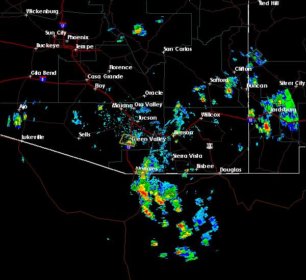 Radar Image for Severe Thunderstorms near Beyerville, AZ at 7/31/2017 4:03 PM MST