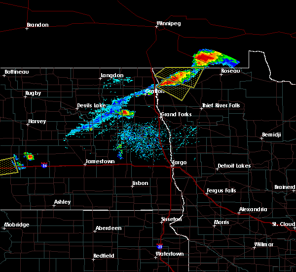 Radar Image for Severe Thunderstorms near Stephen, MN at 7/31/2017 6:02 PM CDT