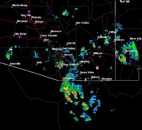 Radar Image for Severe Thunderstorms near Green Valley, AZ at 7/31/2017 4:11 PM MST