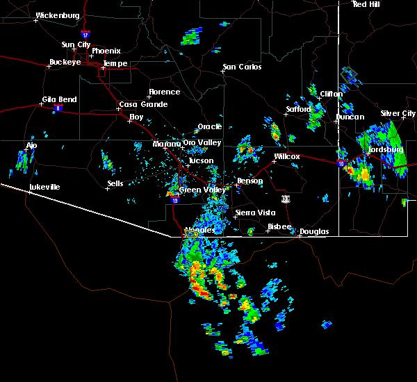 Radar Image for Severe Thunderstorms near Beyerville, AZ at 7/31/2017 4:24 PM MST
