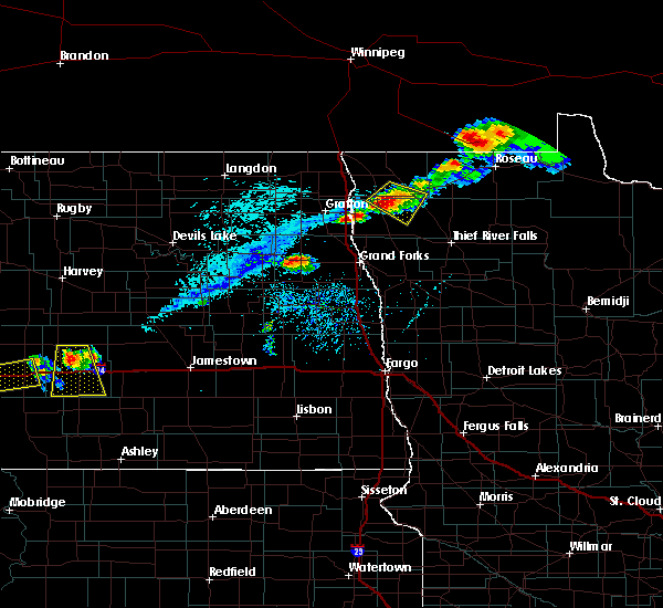 Radar Image for Severe Thunderstorms near Stephen, MN at 7/31/2017 6:30 PM CDT