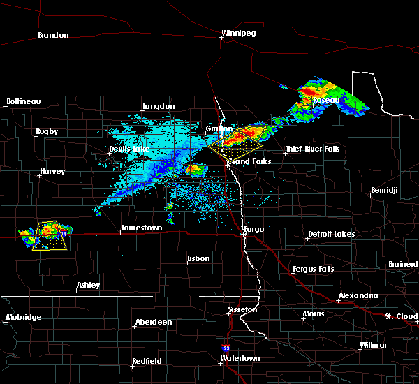 Radar Image for Severe Thunderstorms near Stephen, MN at 7/31/2017 6:51 PM CDT