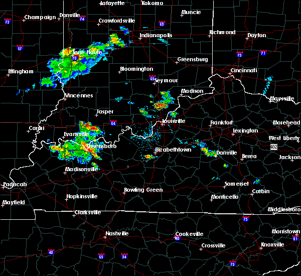 Radar Image for Severe Thunderstorms near Henryville, IN at 8/1/2017 7:36 PM EDT