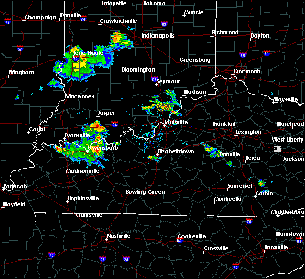 Radar Image for Severe Thunderstorms near Henryville, IN at 8/1/2017 7:54 PM EDT