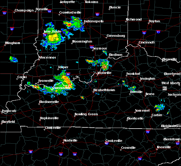 Radar Image for Severe Thunderstorms near Westport, KY at 8/1/2017 8:34 PM EDT