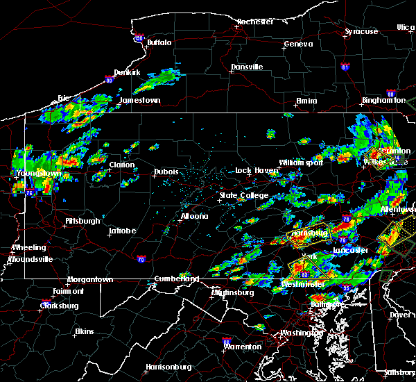 Radar Image for Severe Thunderstorms near Quentin, PA at 8/2/2017 2:31 PM EDT