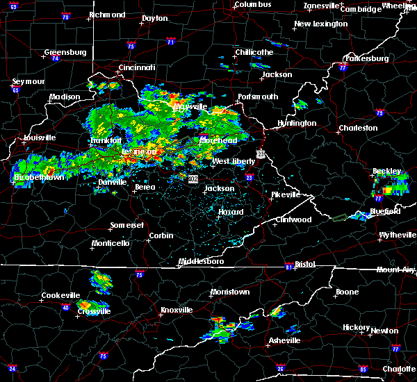 Radar Image for Severe Thunderstorms near Winchester, KY at 8/2/2017 4:00 PM EDT