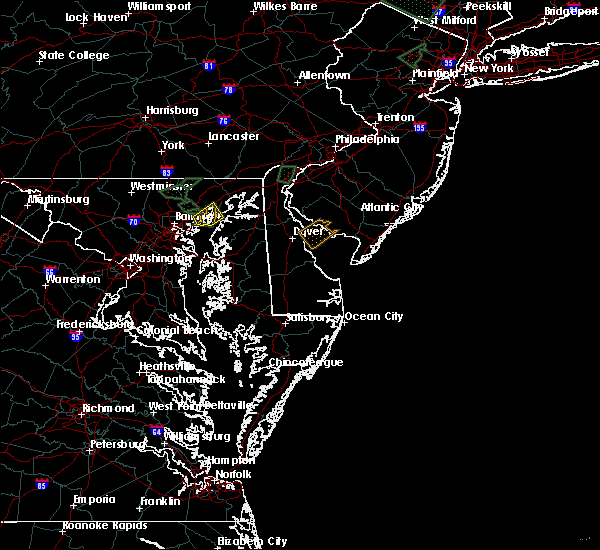 Radar Image for Severe Thunderstorms near Riverside, MD at 8/2/2017 4:38 PM EDT