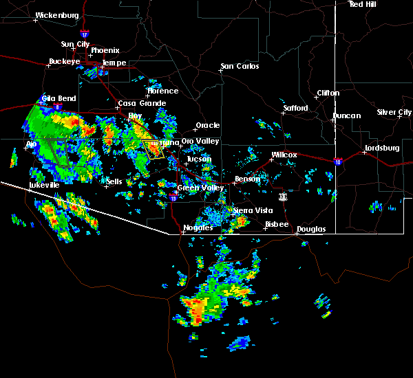 Radar Image for Severe Thunderstorms near Marana, AZ at 8/2/2017 2:04 PM MST