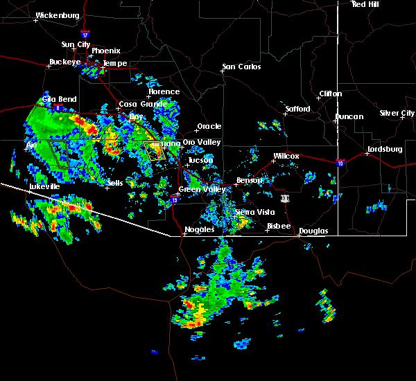 Radar Image for Severe Thunderstorms near Marana, AZ at 8/2/2017 2:17 PM MST