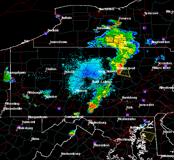 Radar Image for Severe Thunderstorms near Muncy, PA at 8/2/2017 9:31 PM EDT