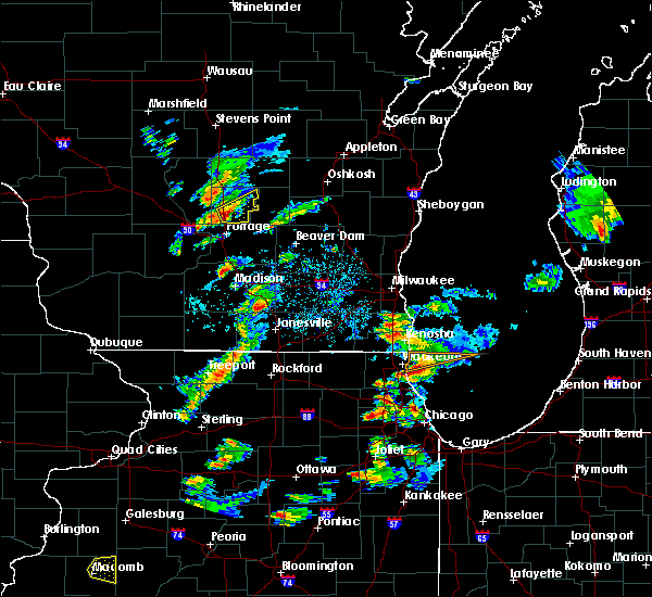Radar Image for Severe Thunderstorms near Endeavor, WI at 8/3/2017 6:43 PM CDT