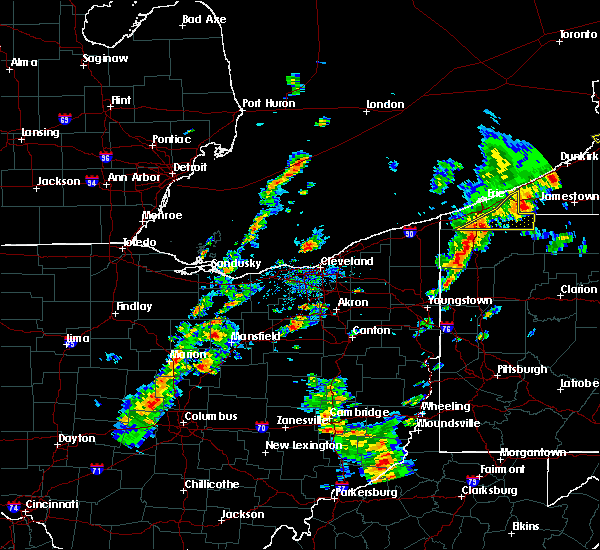 Radar Image for Severe Thunderstorms near Sterling, OH at 8/4/2017 12:51 PM EDT
