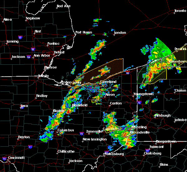 Radar Image for Severe Thunderstorms near Mansfield, OH at 8/4/2017 1:14 PM EDT