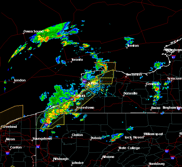 Radar Image for Severe Thunderstorms near Chautauqua, NY at 8/4/2017 1:17 PM EDT