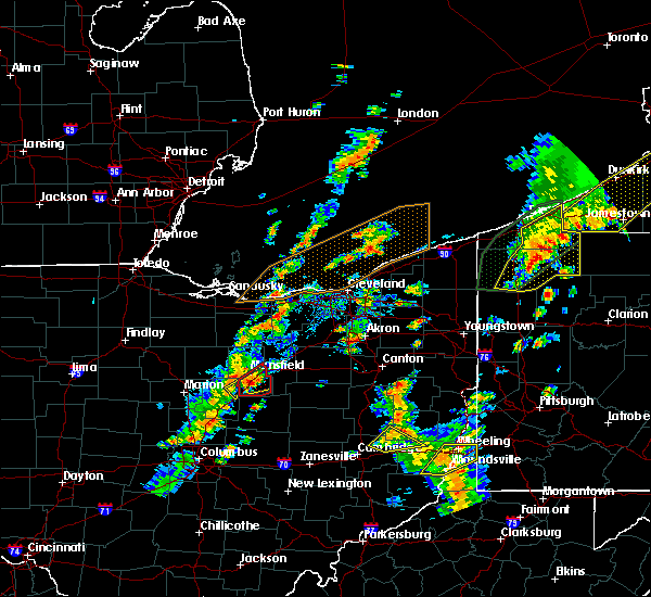 Radar Image for Severe Thunderstorms near Mansfield, OH at 8/4/2017 1:23 PM EDT