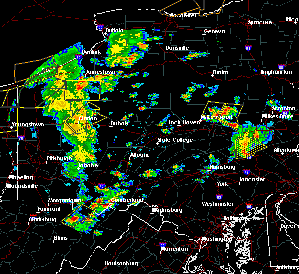 Radar Image for Severe Thunderstorms near Marianne, PA at 8/4/2017 4:01 PM EDT