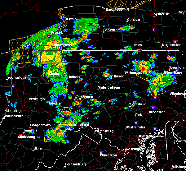 Radar Image for Severe Thunderstorms near Central City, PA at 8/4/2017 4:26 PM EDT