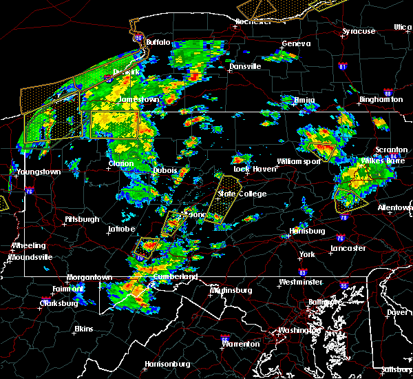 Radar Image for Severe Thunderstorms near State College, PA at 8/4/2017 4:35 PM EDT