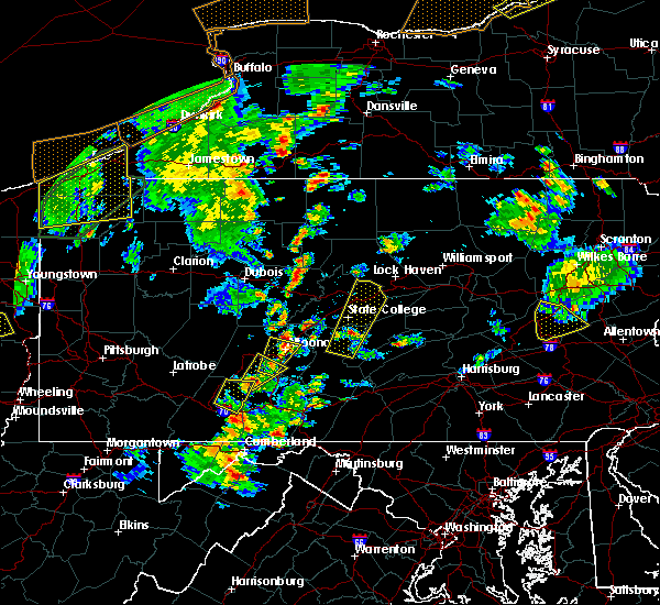 Radar Image for Severe Thunderstorms near Dunlo, PA at 8/4/2017 4:47 PM EDT