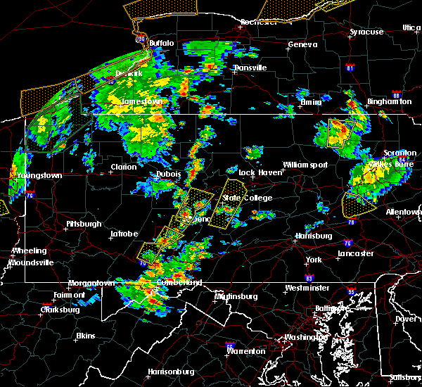 Radar Image for Severe Thunderstorms near Tyrone, PA at 8/4/2017 4:53 PM EDT