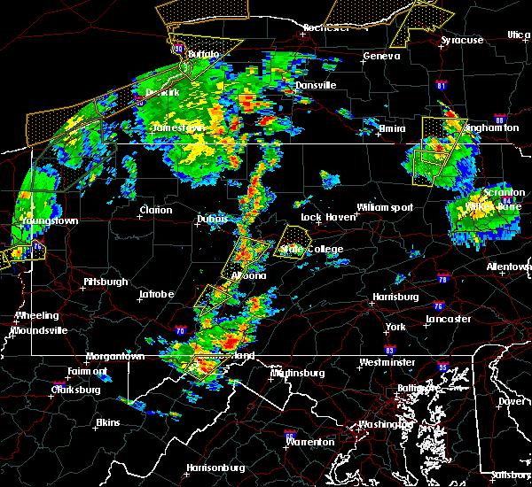 Radar Image for Severe Thunderstorms near Howard, PA at 8/4/2017 5:11 PM EDT