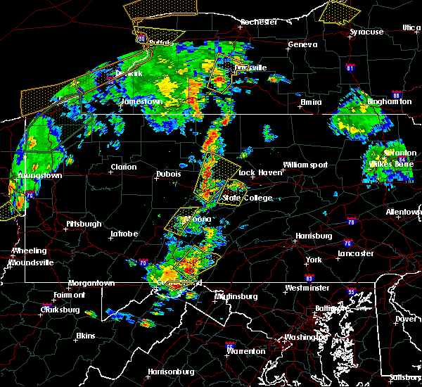 Radar Image for Severe Thunderstorms near McConnellsburg, PA at 8/4/2017 5:33 PM EDT