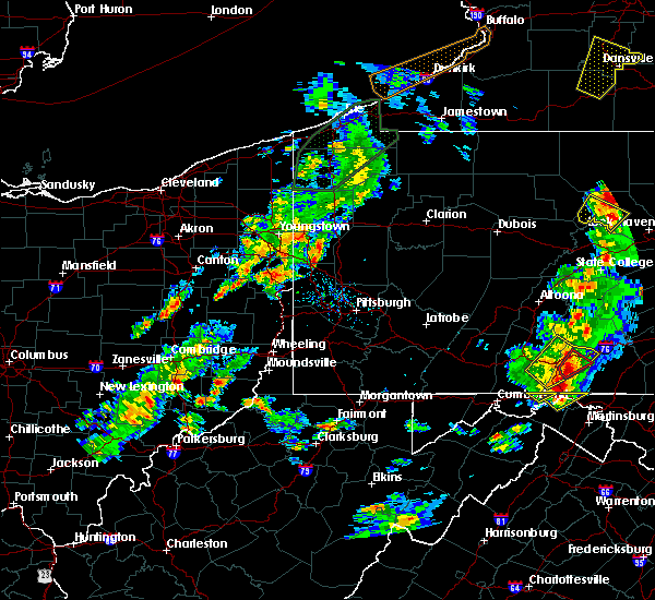 Radar Image for Severe Thunderstorms near West Pittsburg, PA at 8/4/2017 5:59 PM EDT