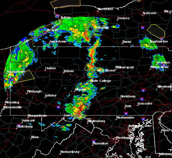 Radar Image for Severe Thunderstorms near South Renovo, PA at 8/4/2017 5:58 PM EDT