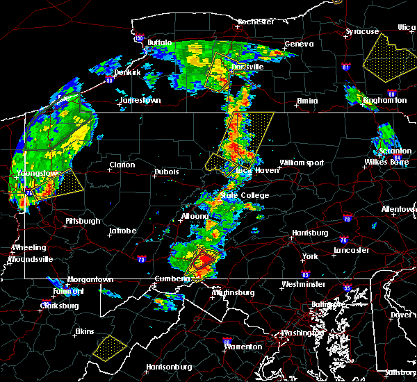 Radar Image for Severe Thunderstorms near McConnellsburg, PA at 8/4/2017 6:13 PM EDT