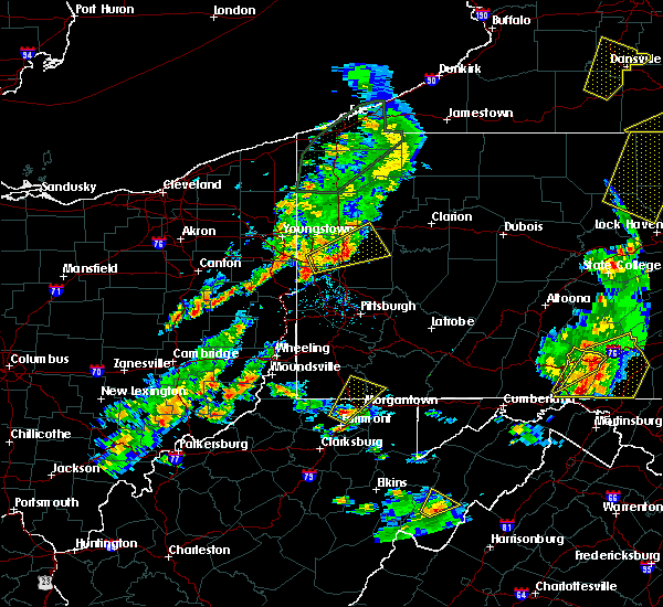 Radar Image for Severe Thunderstorms near West Pittsburg, PA at 8/4/2017 6:23 PM EDT