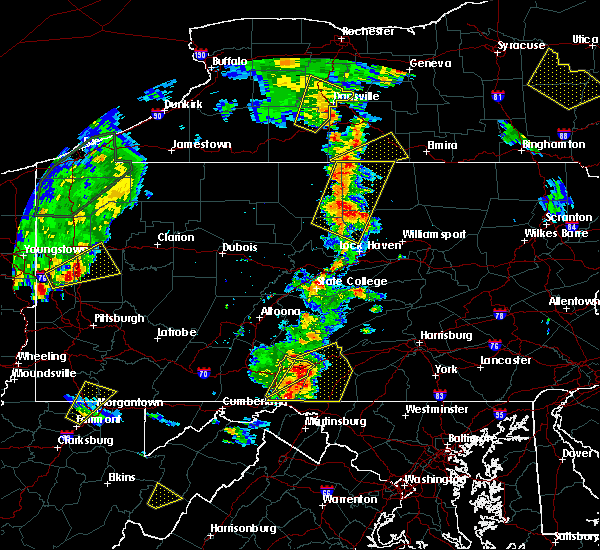 Radar Image for Severe Thunderstorms near McConnellsburg, PA at 8/4/2017 6:23 PM EDT