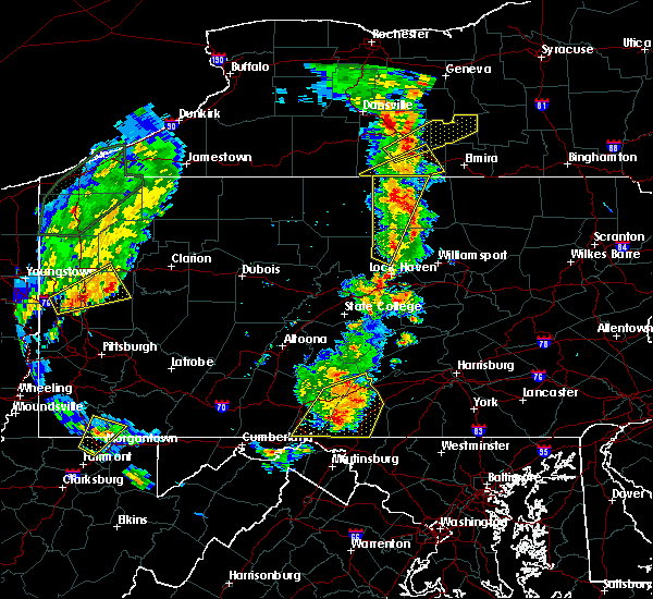 Radar Image for Severe Thunderstorms near Lawrenceville, PA at 8/4/2017 6:45 PM EDT