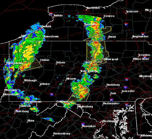 Radar Image for Severe Thunderstorms near Salladasburg, PA at 8/4/2017 6:53 PM EDT